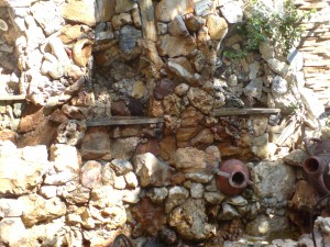 Пано от естествени облицовъчни камъни
