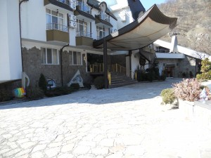 Hotels in Bansko with stone cladding of stone Valmarg