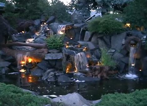 осветление на водопада