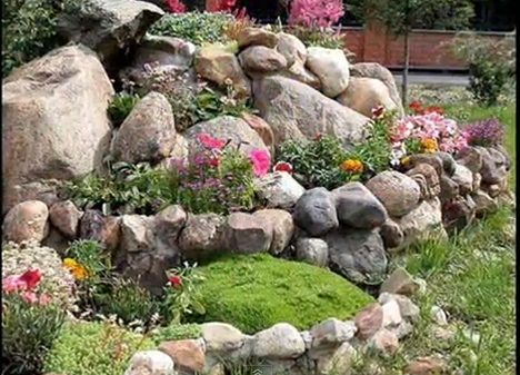 ландшафт с речни камъни