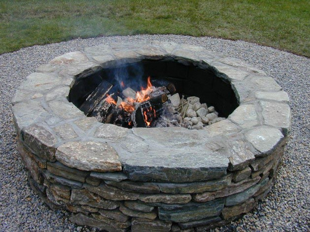 огнище от естествени камъни