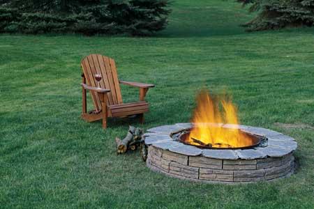 огнище с камъни за зидария