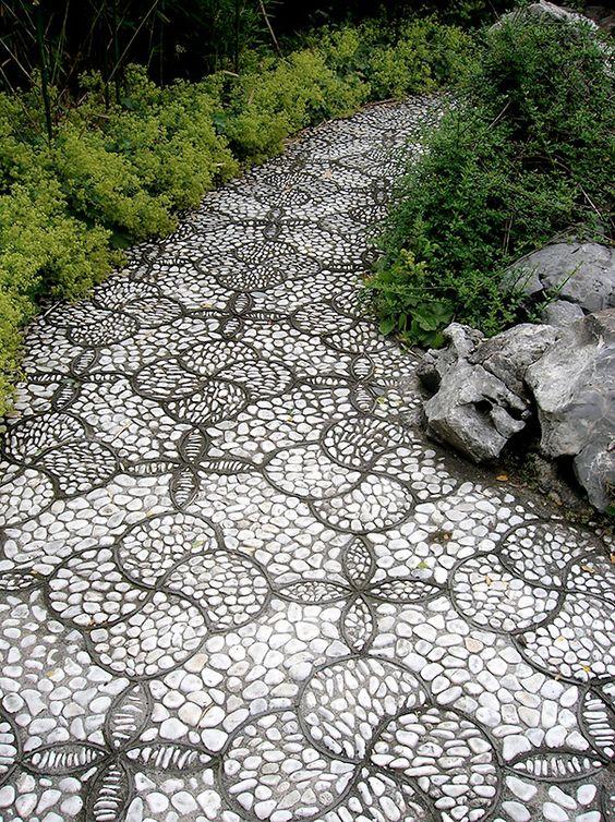 настилка с естествен камък
