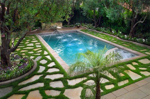 естествен камък за басейн