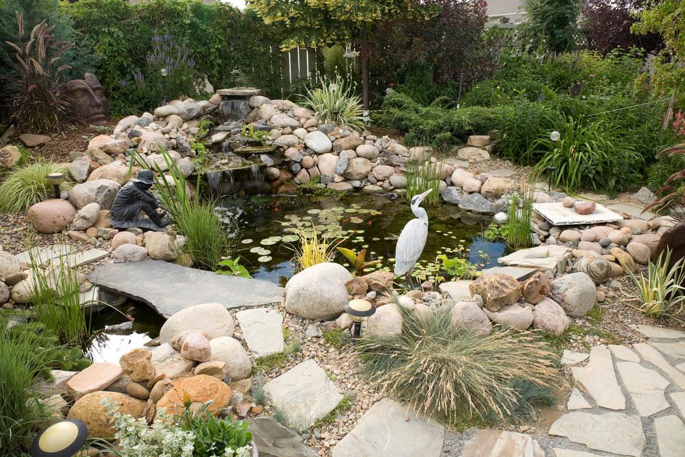 гнайс камък за декоративно езерце