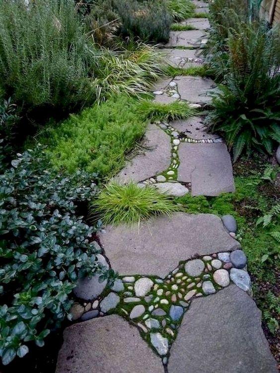 изграждане на пътека от камък