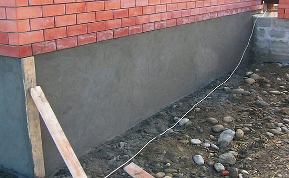 облицовка фундамент на къща