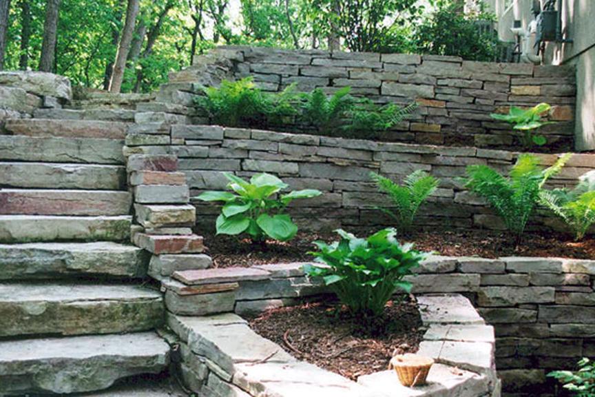 как да терасираме двора
